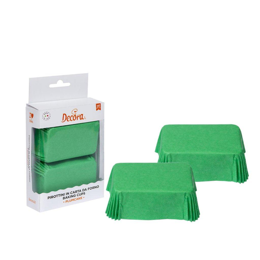 Decora košíčky na mini chlebíky Zelené (36 ks)