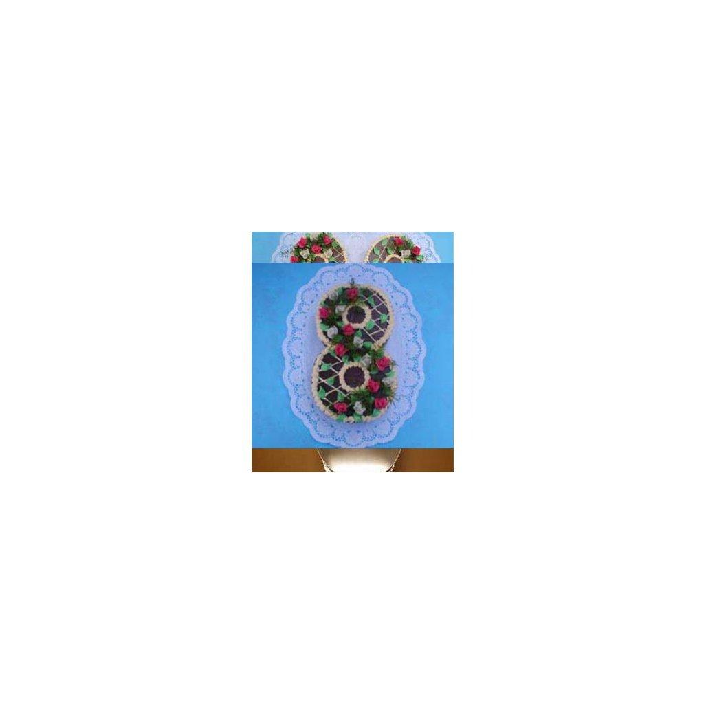 Dortová forma ve tvaru čísla - 8