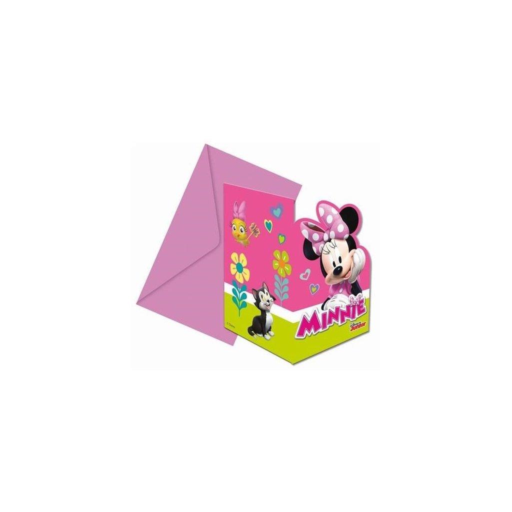 Party pozvánky Minnie Happy Helpers 6 ks