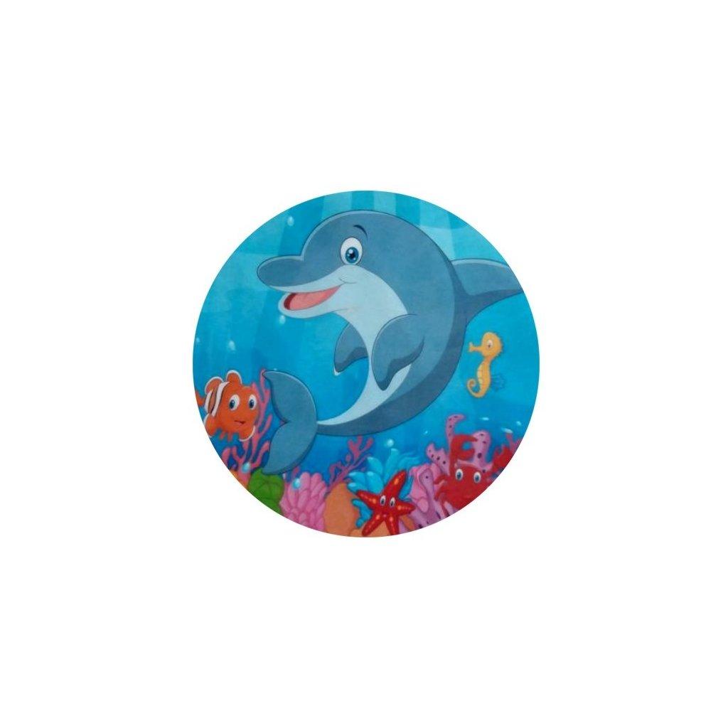 30705 obrazek na jedlem papiru delfin