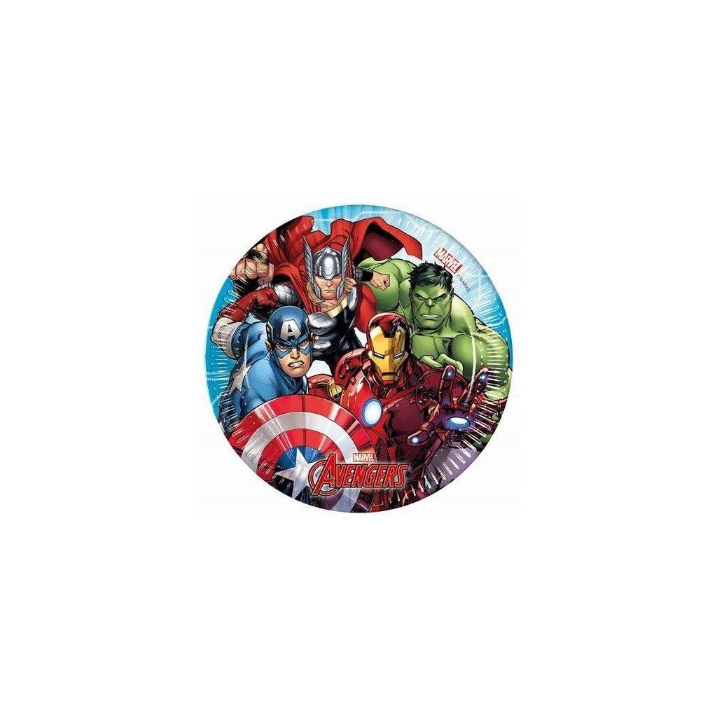 Papírové talířky Mighty Avengers 20 cm