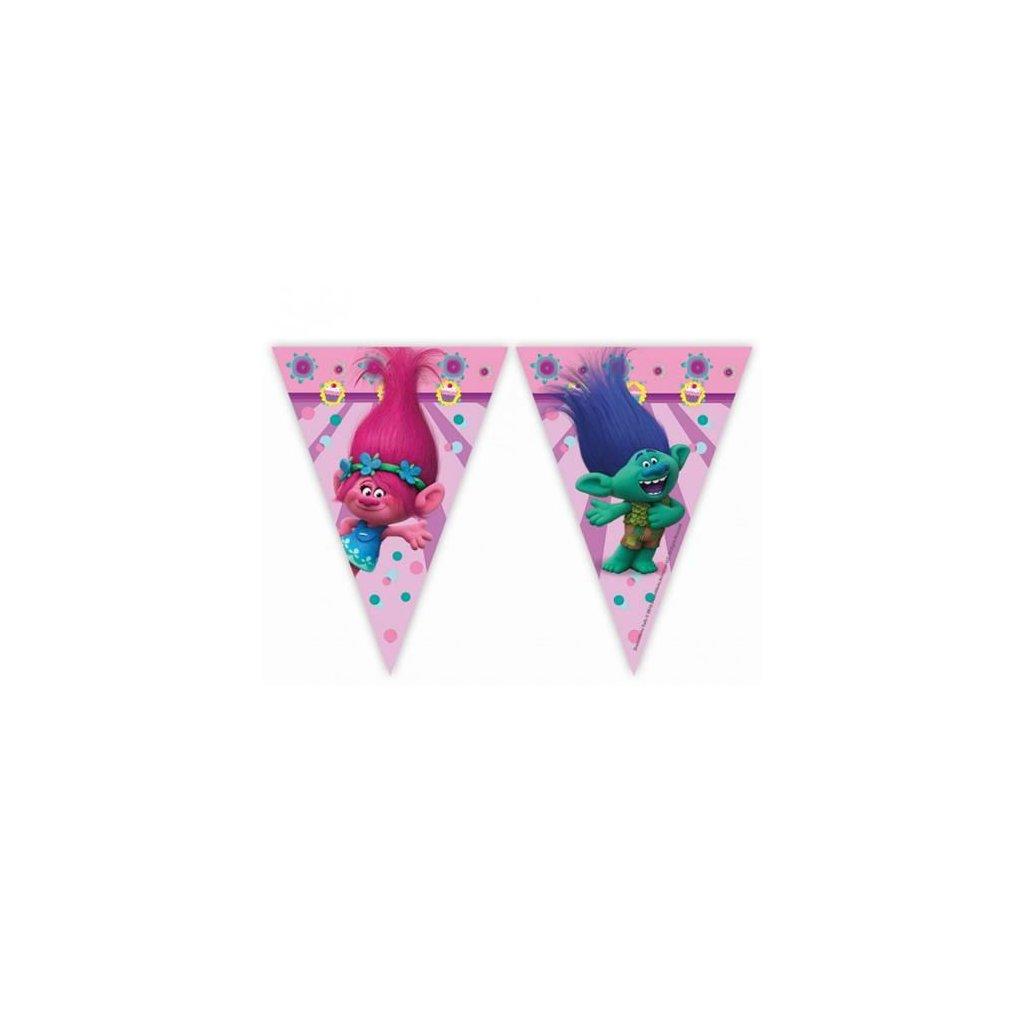 Vlaječková girlanda Trollové 230 cm