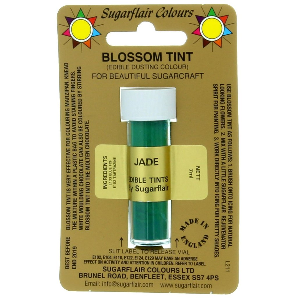 sugarflair colours jade blossom tint dusting colour 7ml vial p1799 7332 image