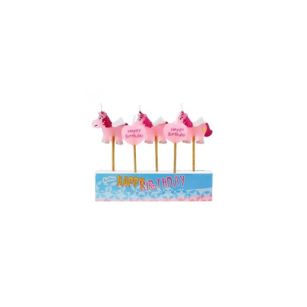 Narozeninové svíčky Pony - 5 ks