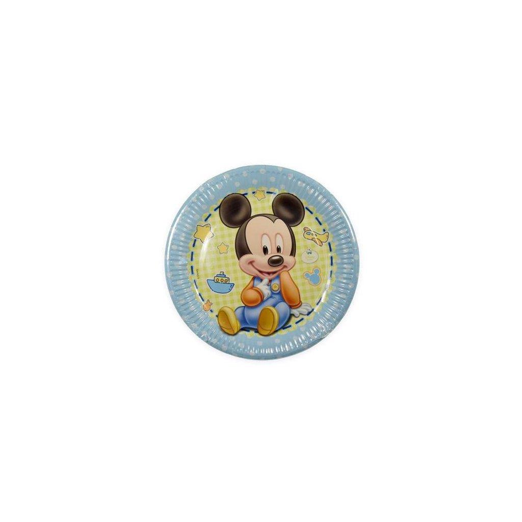 Papírové talíře Baby Mickey 23 cm - 8 ks