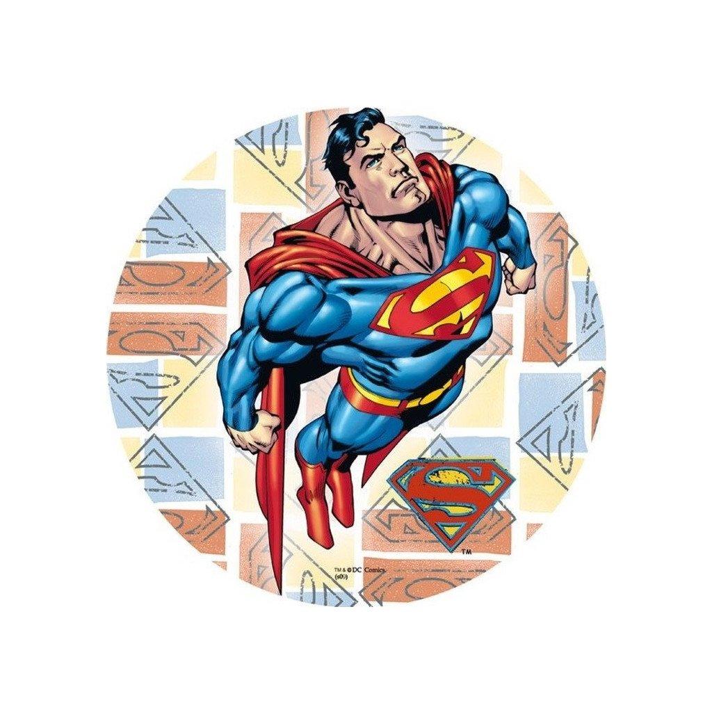 oplatek na tort superman 21cm