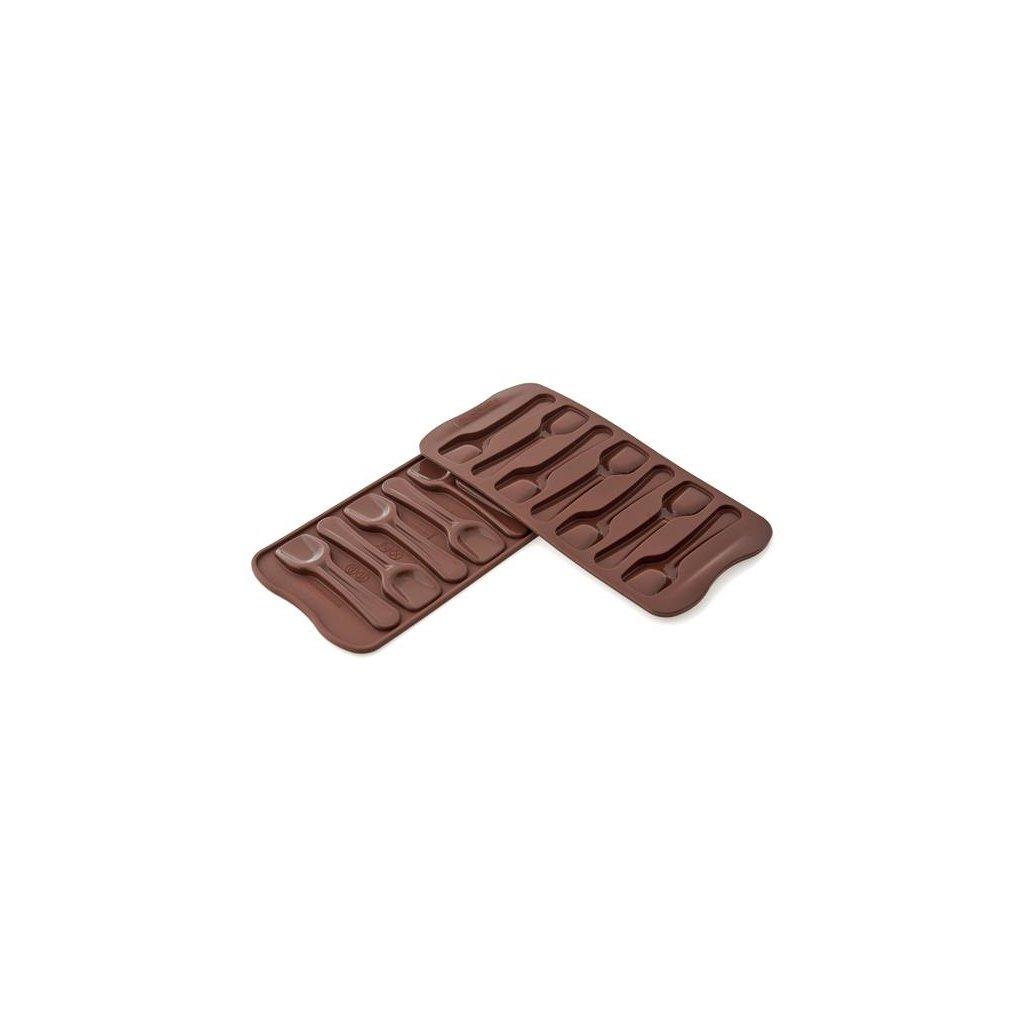 Silikonová forma na čokoládu – lžičky