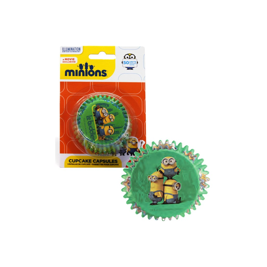 5777 kosicky na cupcake mimoni prum 50mm 50 ks bal