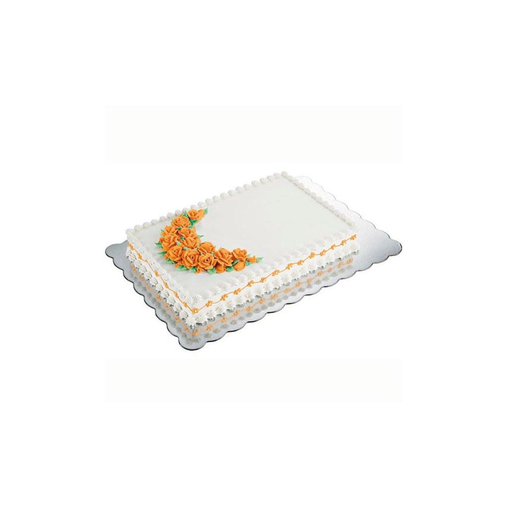 Wilton kartonové podložky pod dort - obdélník 4ks