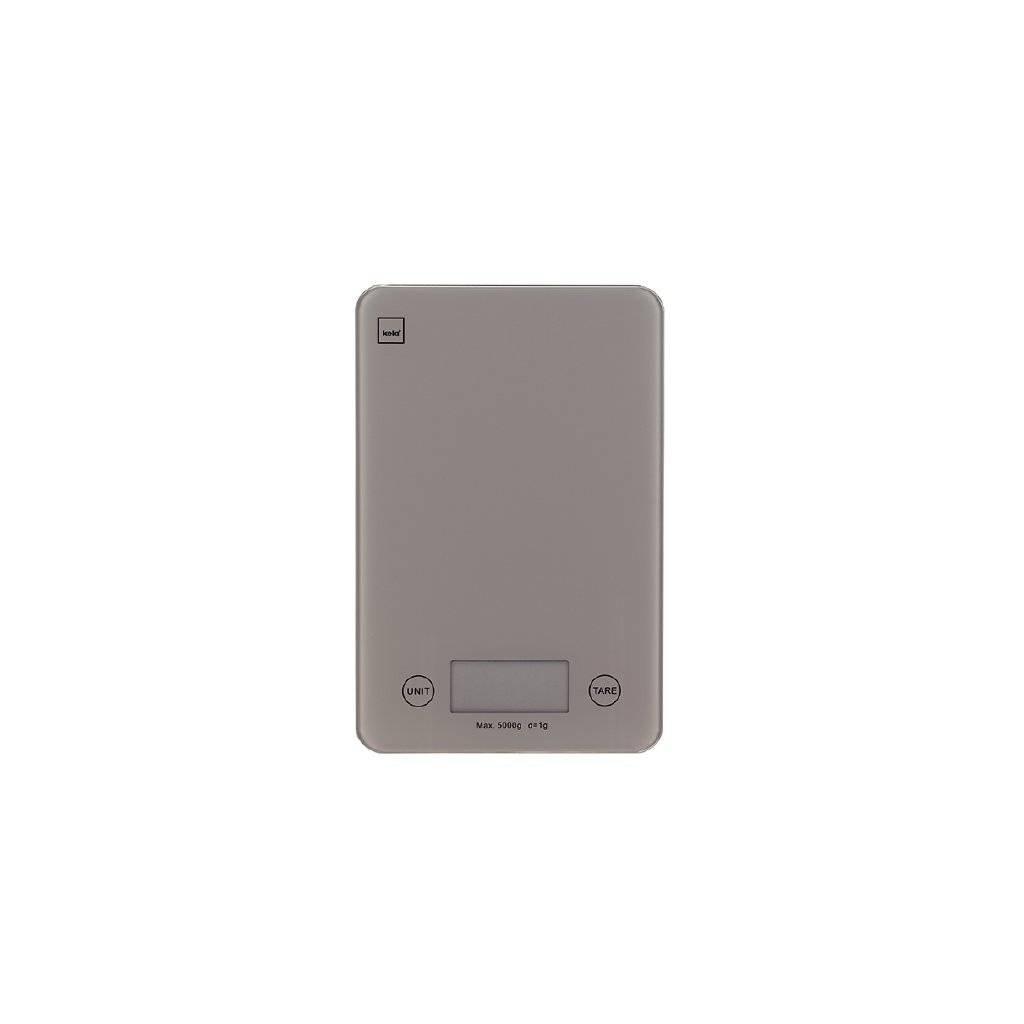 Kuchyňská váha PINTA digitální, šedá, 23x15x1,5cm - Kela