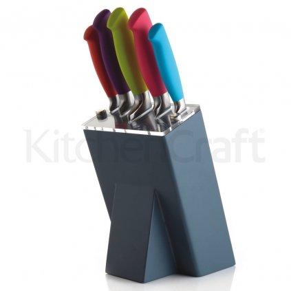 SLEVA 30%! Colourworks sada nerezových nožů v bloku (5 ks)