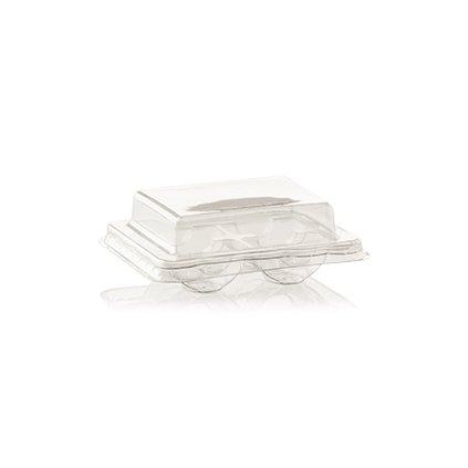 Plastová krabička na 4 makronky (průhledná)