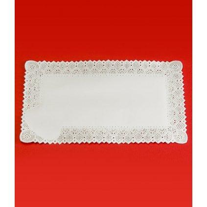 Krajka leštěný papír 25x35cm (bílá) 100 ks/bal