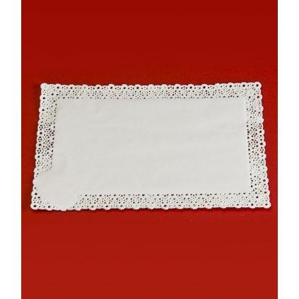 Krajka leštěný papír 40x60cm (bílá) 100ks/bal