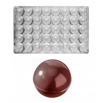Forma na pralinky párovací (koule 2x9g) 5x8 tvarů/forma