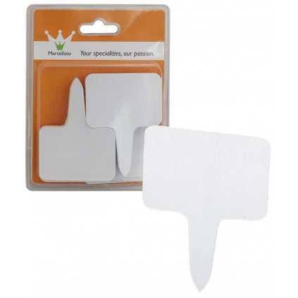 Cenovky zapichovací sada 40 ks, bílý plast 8x6cm