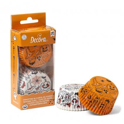 Košíček na muffiny Halloween dýně a duchové 36ks 5x3cm - Decora