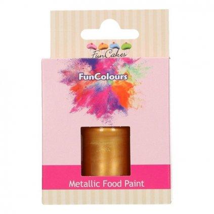 FunColours Metallic Food Paint Dark Gold - zlatá 30ml