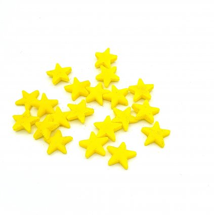 Vypichované hvězdičky s leskem 20ks