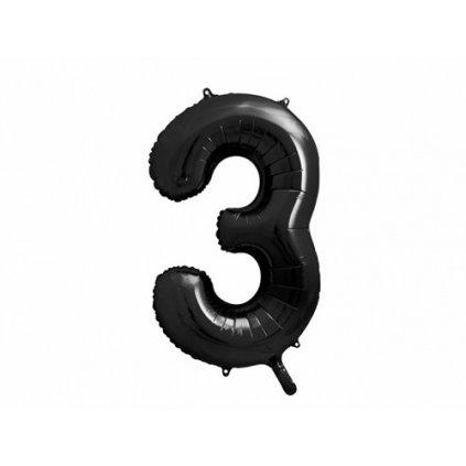 Foliová číslice - černá 3 - 86 cm