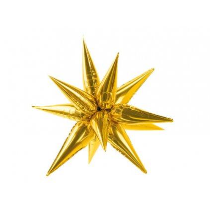 Dekorační Hvězda 3D zlatá 70 cm