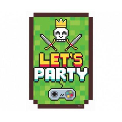Party pozvánky - Game on - 6 ks