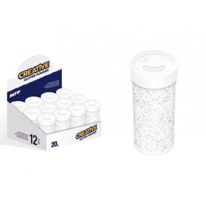 Glitrový pudr - bílý 20 g