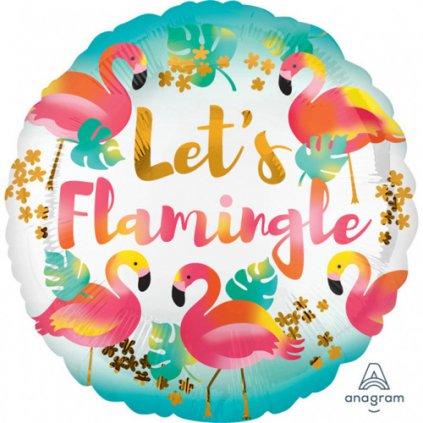 Foliový balonek Plameňák - Lets Flamingle 43 cm