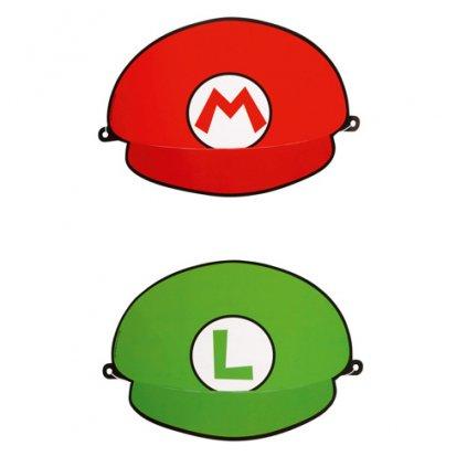 Party papírové čepice Super Mario - 8 ks