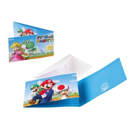 Party pozvánky Super Mario 8 ks