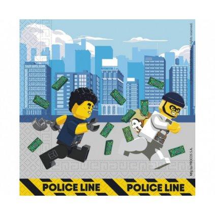 Papírové party ubrousky Lego City - 20 ks