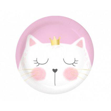 Papírové talířky kočičí 18 cm - 8 ks