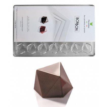 Forma na pralinky (bonbón modern 9,5g) 7x4 tvary/forma