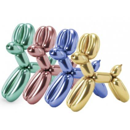 Chromové modelovací balonky 15 ks