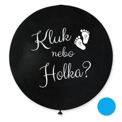 Jumbo balonek Kluk nebo holka? CZ - 80 cm - modrá náplň