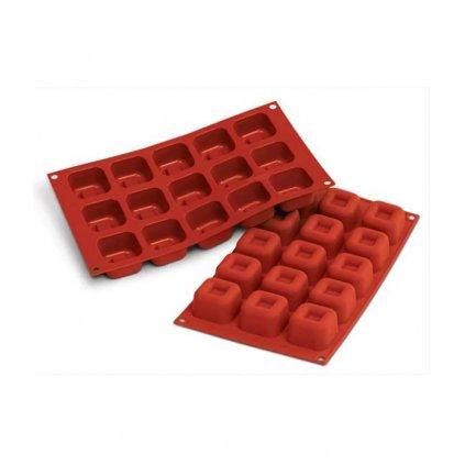 Forma silikonová (15 ks cihla čtverec střední) 4,55x4,55 v.2,8 cm