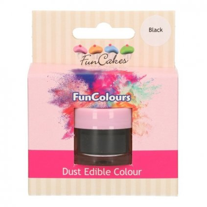 FunColours prachová barva - black - černá - 1,5g