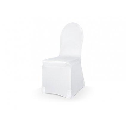 Potah na židli elastický bílý