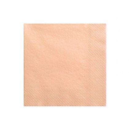 Papírové ubrousky lososové 20 ks
