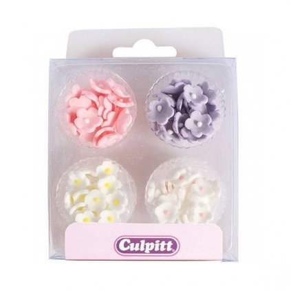Cukrová dekorace - Mini květiny - 100ks - Culpitt