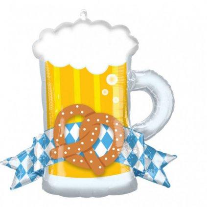 Foliový balonek Oktoberfest - pivo 66 x 63 cm