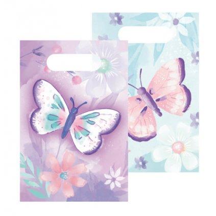 Party tašky Motýlci 8 ks