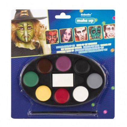 Halloweenská sada barev na obličej - 8 barev