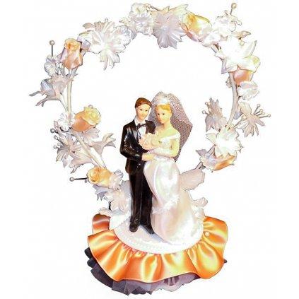 Ženich a nevěsta Elisabetta 28cm 1 ks/figurka