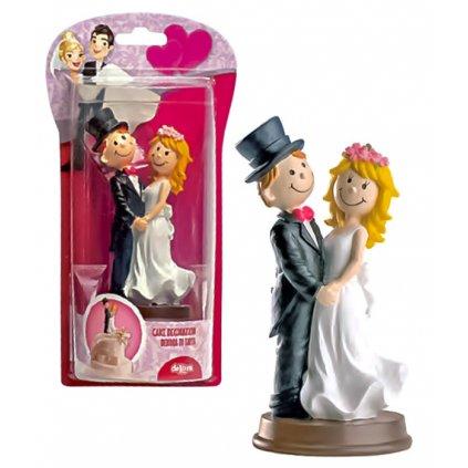 Ženich a nevěsta Sposi 13cm 1 ks/figurka