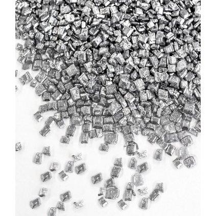 Cukrové krystalky malé stříbrné 50 g/dóza