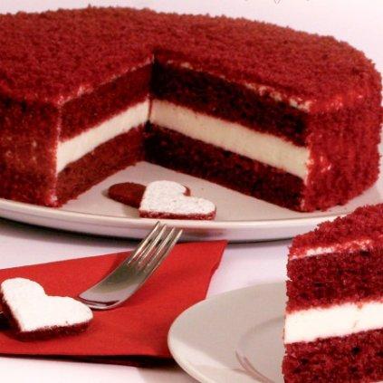 Směs Red Velvet - 5 kg (Trvanlivost 13. 6. 2017, Složení cukr, pšeničná mouka, sušená vejce, kypřící látka (E450, E500), kakao, barvivo (E120, E172), sůl, aroma. Obsahuje alergeny pšeni)