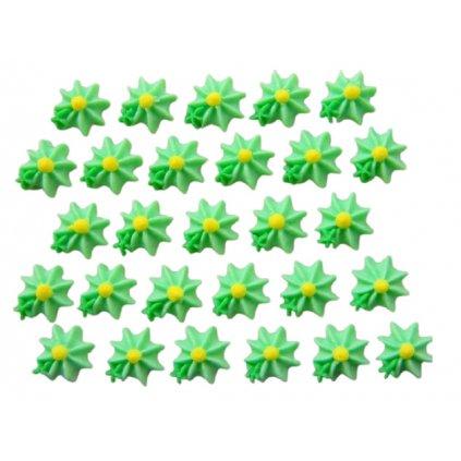 Cukrová dekorace - mini kvítečka mentolově zelenkavé (č.25)