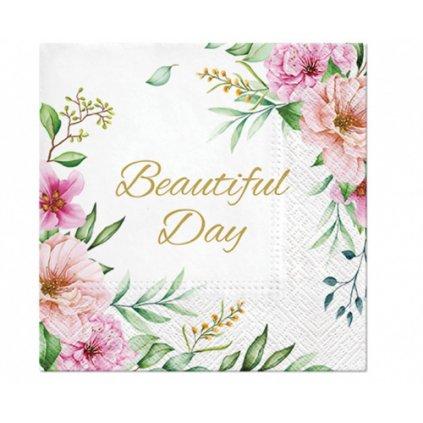 Papírové ubrousky Beautiful Day Floral - 20 ks
