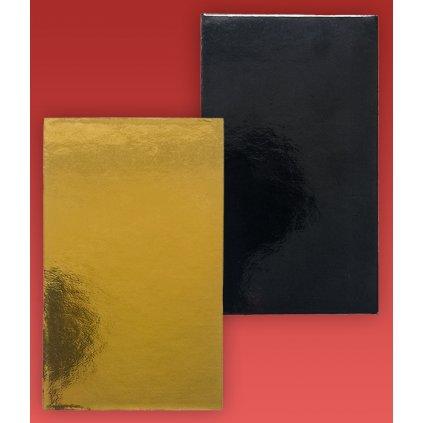 Podložka minidezert 2400, 10x6cm (zlato-černá) 1 ks/ extra silná